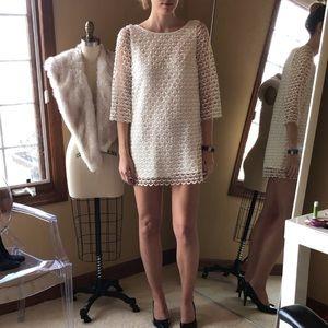 Ark & Co scallop dress white medium